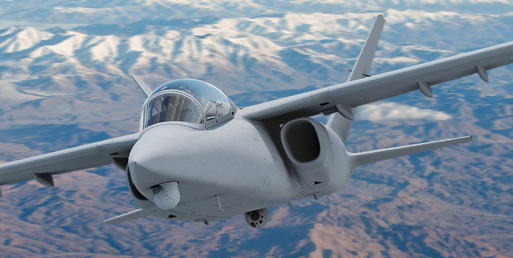 Textron Airland Introduces Scorpion Isr Strike Aircraft