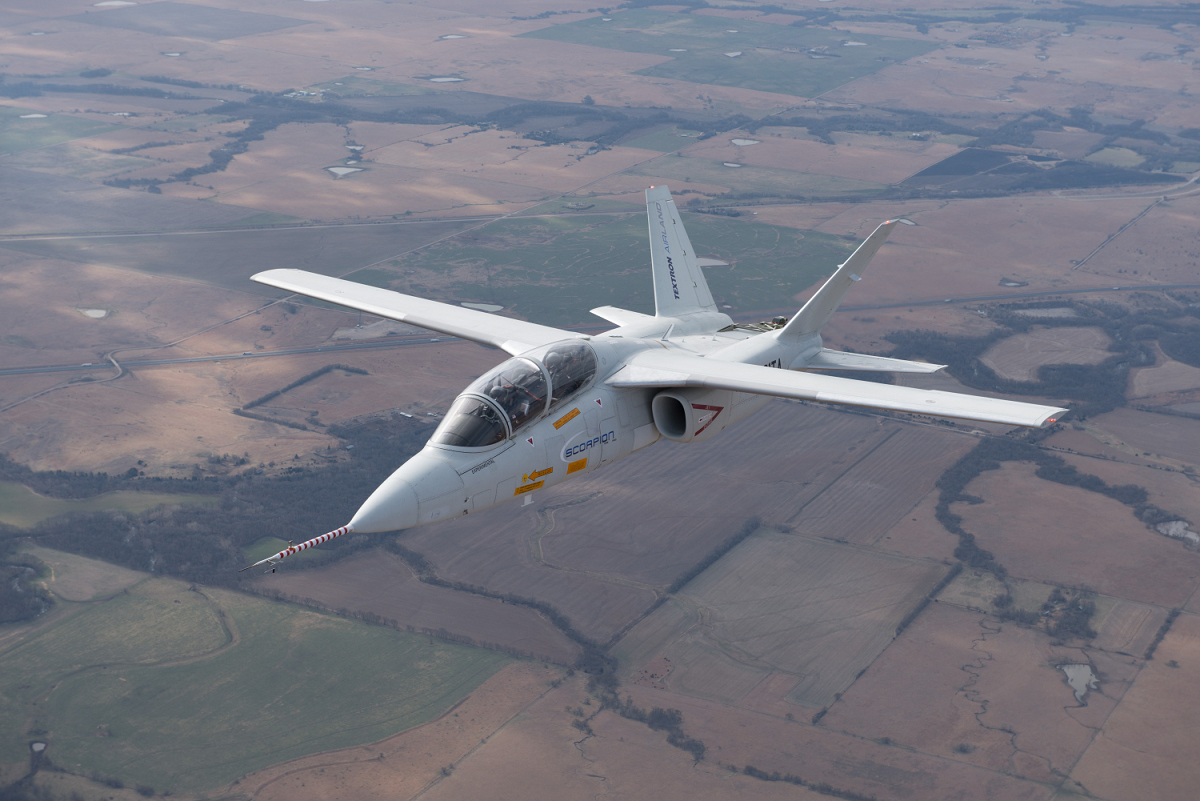 Textron AirLand's Scorpion reaching 430 KTAS above Kansas, April