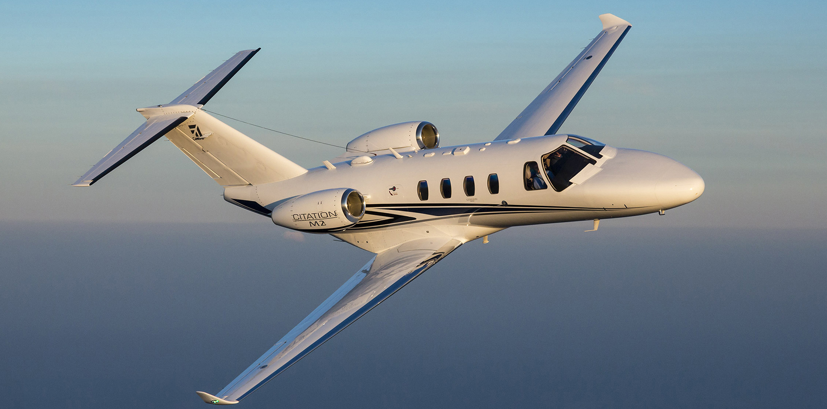 Citation M2 inflight