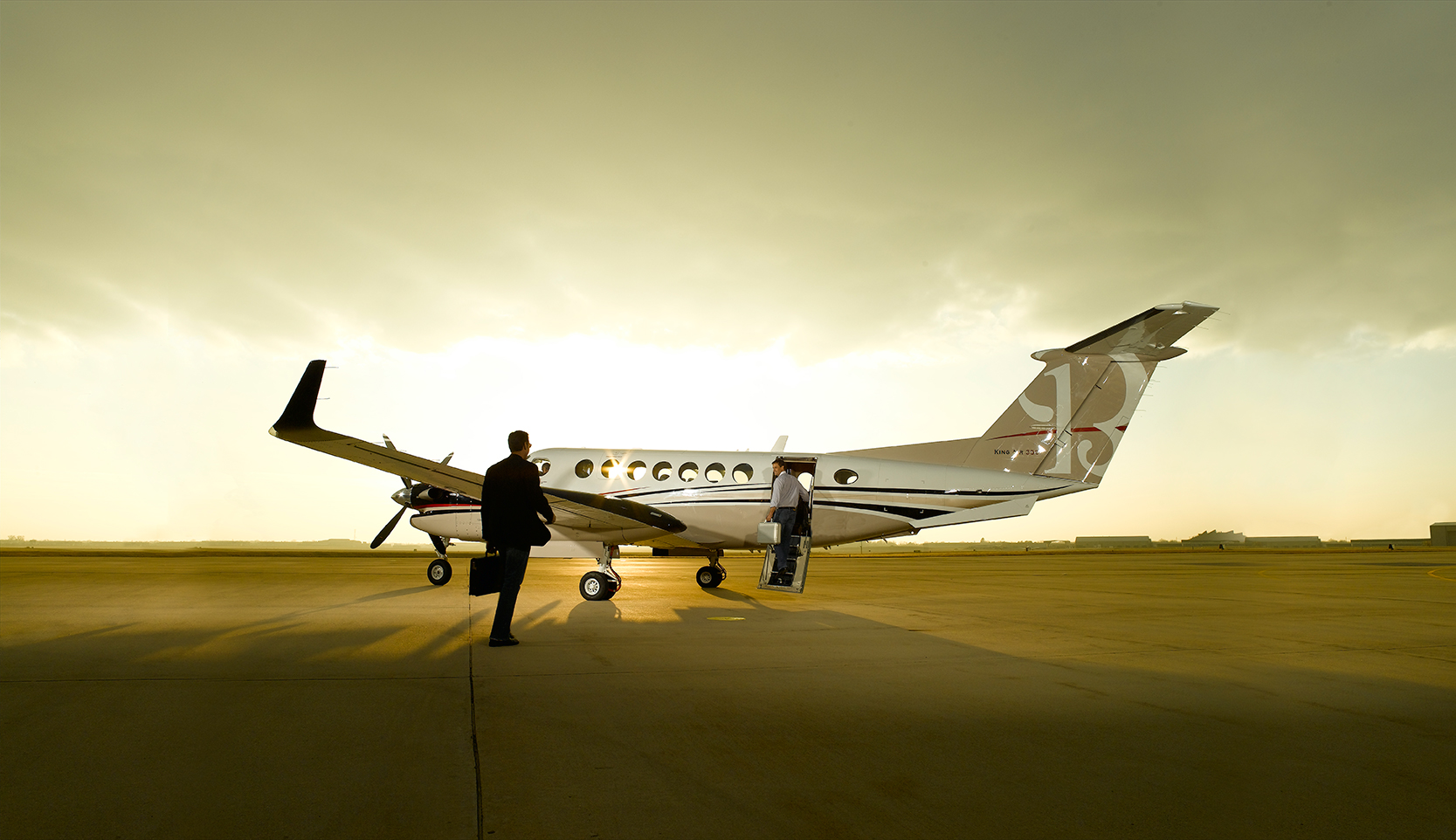 King Air 350 on ramp