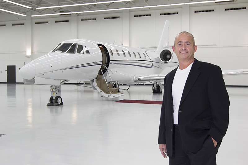 Customer with new Cessna Citation