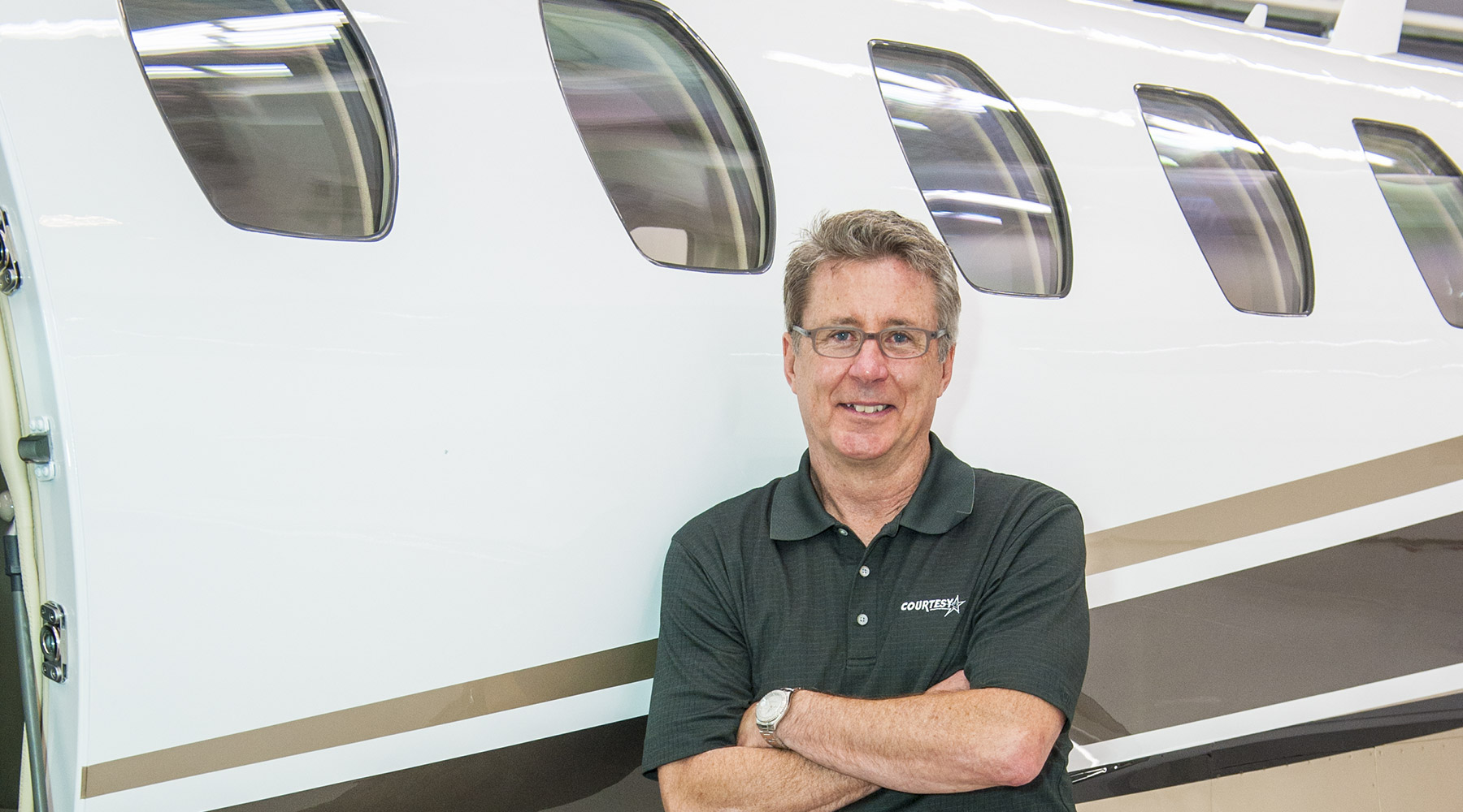 Ron Boyer in front of Cessna Citation