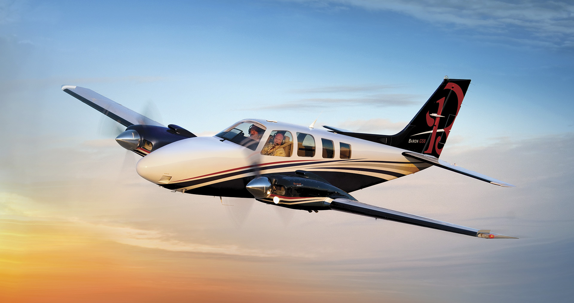 Beechcraft Baron G58 in flight