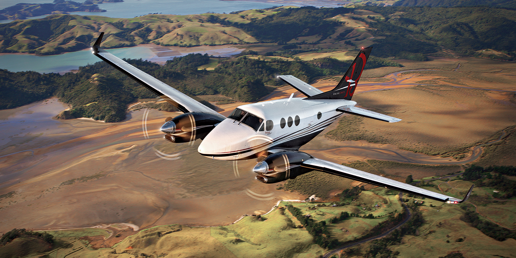 King Air C90GTx in flight