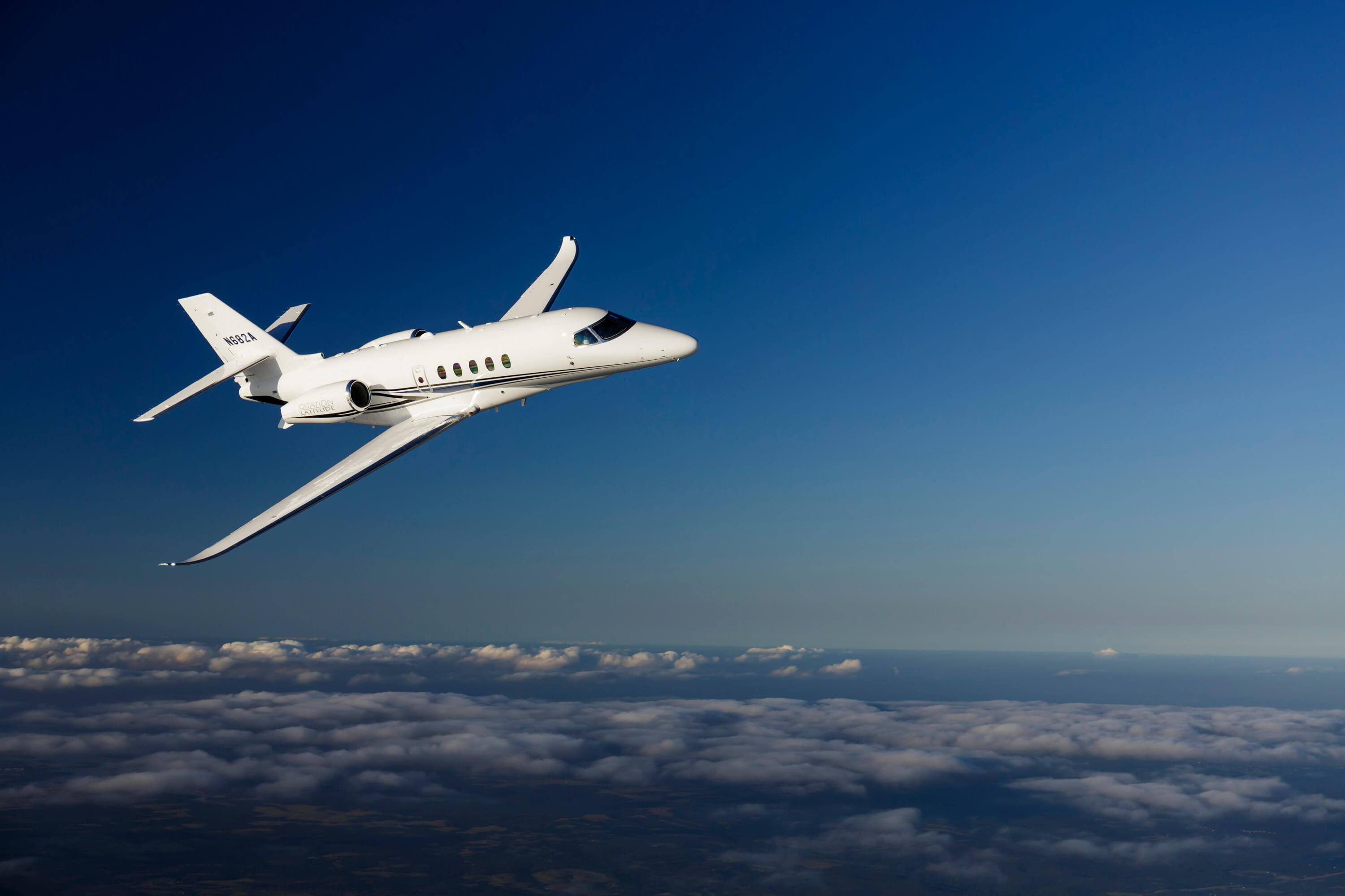 Citation Latitude in flight
