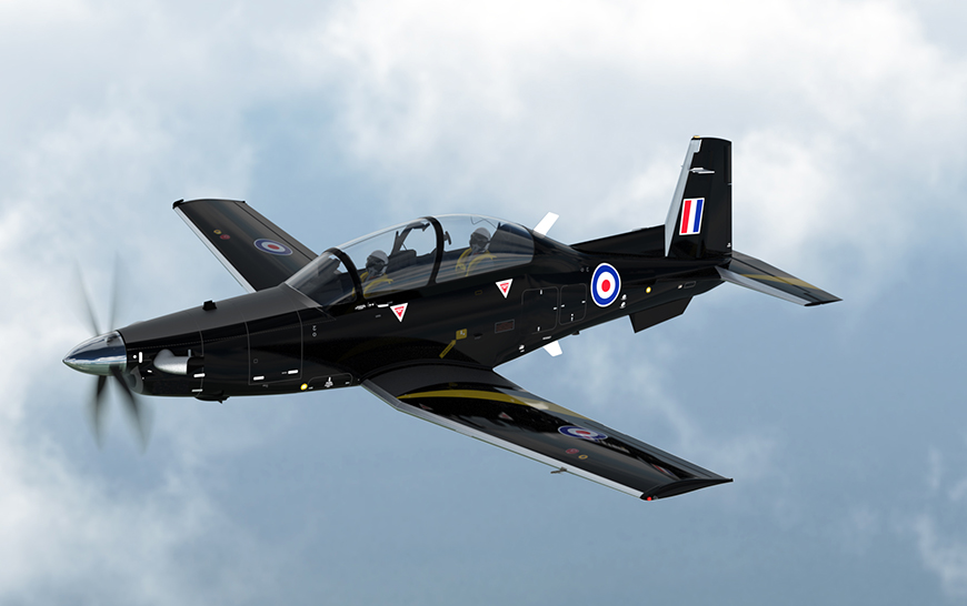 Image result for Beechcraft T-6C military trainer