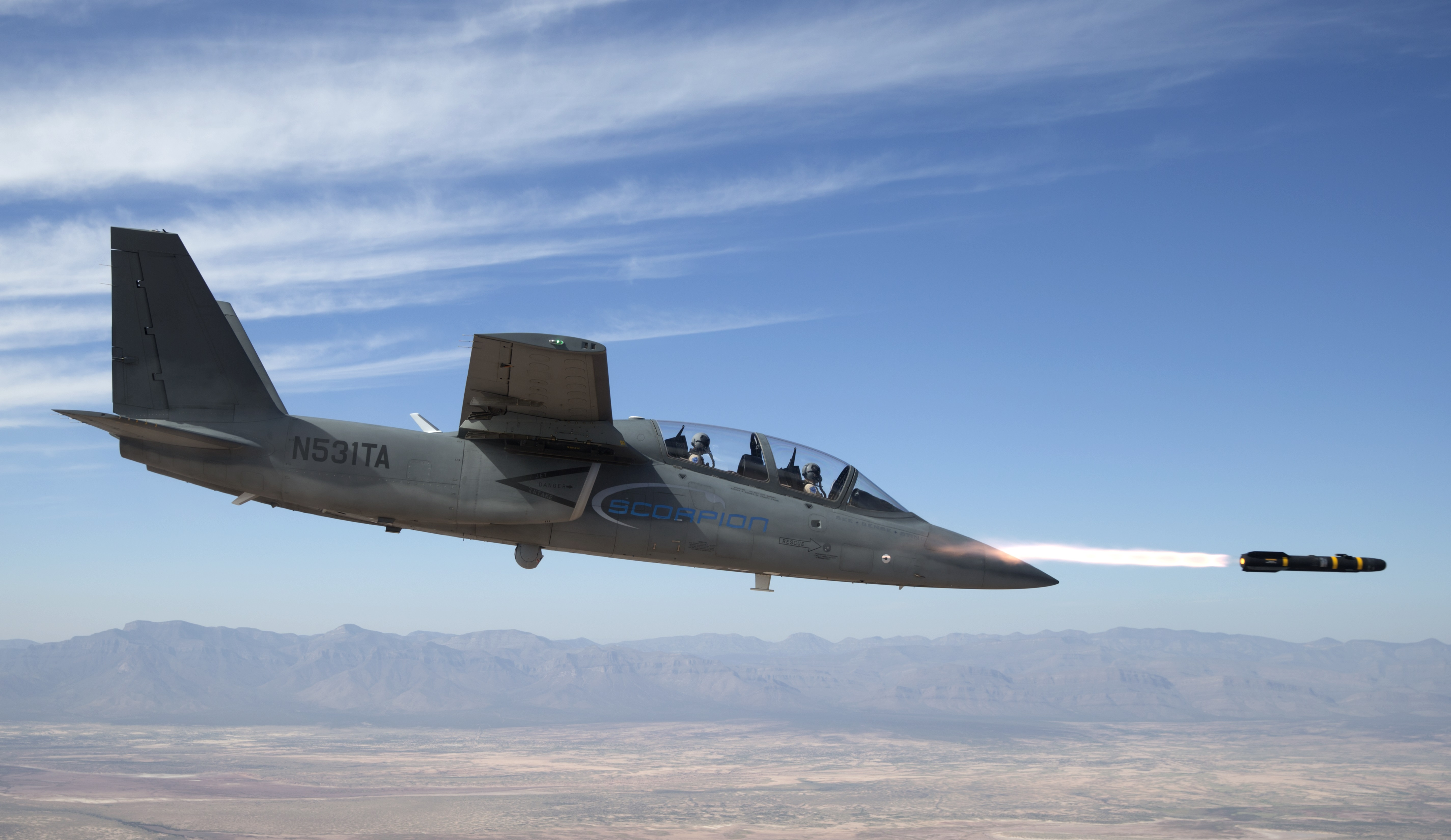 Textron : Scorpion jet successfully completes first weapons