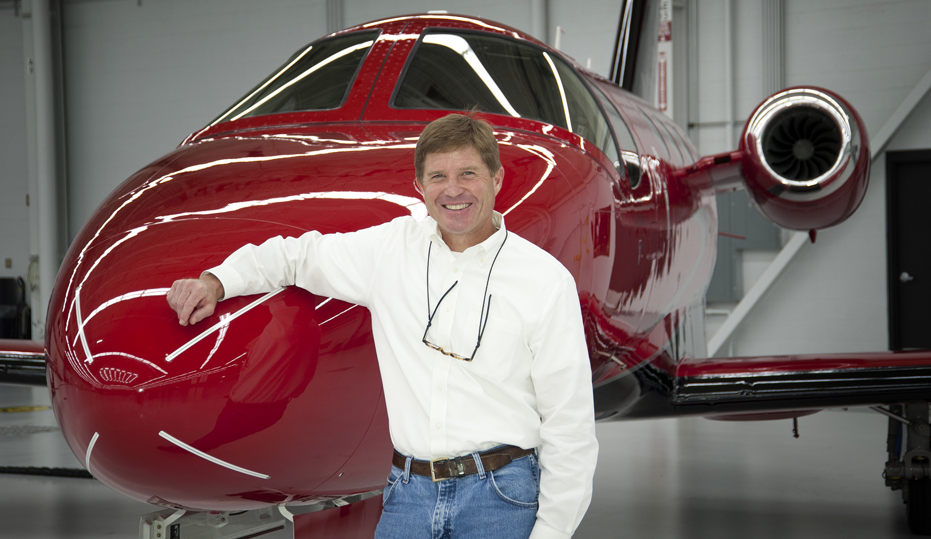McVean with his Citation M2